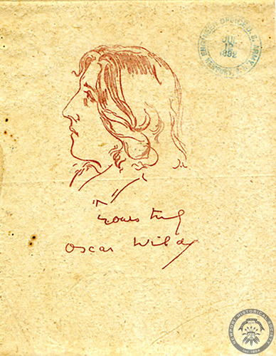 Oscar Wilde invitation, 1882 July 15