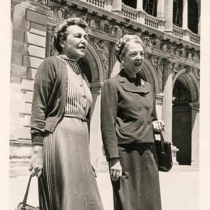 Photograph of Mrs. Katherine Urquhart Warren and Mrs. Ottavio Prochet